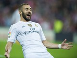 Karim Benzema of Real Madrid CF celebrates after scoring during the La Liga match between Athletic Club Bilbao and Real Madrid CF at San Mames Stadium on September 23, 2015
