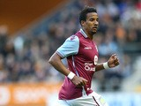 Scott Sinclair of Aston Villa looks on during the pre season friendly between Wolverhampton Wanderers and Aston Villa at Molineux on July 28, 2015