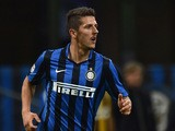 Stevan Jovetic of Internazionale Milano in action during the Serie A match between FC Internazionale Milano and Hellas Verona FC at Stadio Giuseppe Meazza on September 23, 2015