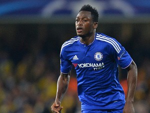 Chelsea's Ghanaian defender Baba Rahman runs with the ball diring the UEFA Champions League, group G, football match between Chelsea and Maccabi Tel Aviv at Stamford Bridge in London on September 16, 2015