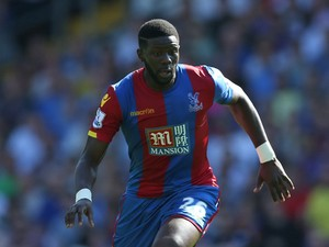 Bakary Sako of Crystal Palace in action during the Barclays Premier League match between Crystal Palace and Aston Villa at Selhurst Park on August 22, 2015