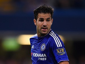 Cesc Fabregas of Chelsea in action during a Pre Season Friendly between Chelsea and Fiorentina at Stamford Bridge on August 5, 2015