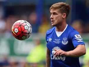 Everton's English striker Conor McAleny controls the ball during the Duncan Ferguson Testimonal pre-season friendly football match between Everton and Villarreal at Goodison Park in Liverpool, north west England on August 2, 2015.
