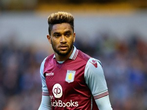 Jordan Amavi of Aston Villa looks on during the pre season friendly between Wolverhampton Wanderers and Aston Villa at Molineux on July 28, 2015