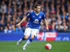 Seamus Coleman of Everton during the Barclays Premier League match between Everton and Chelsea at Goodison Park on September 12, 2015 in Liverpool, United Kingdom.