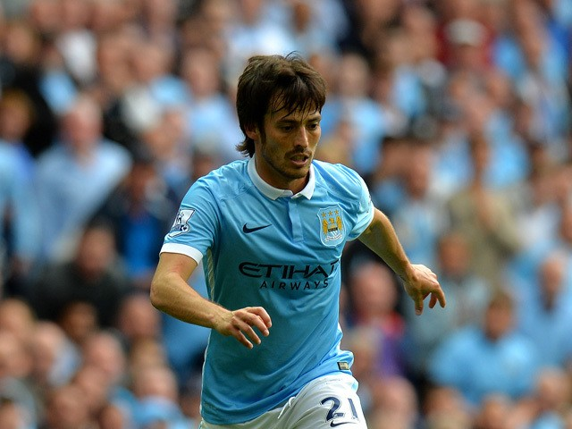 David Silva of Manchester City during the Barclays Premier League match between Manchester City and Watford at the Etihad Stadium on August 29, 2015