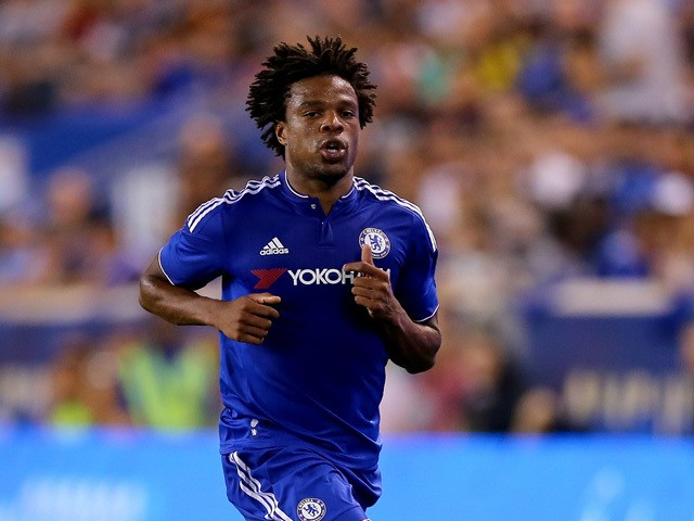 Loic Remy #18 of Chelsea takes the ball in the first half against the New York Red Bulls during the International Champions Cup at Red Bull Arena on July 22, 2015