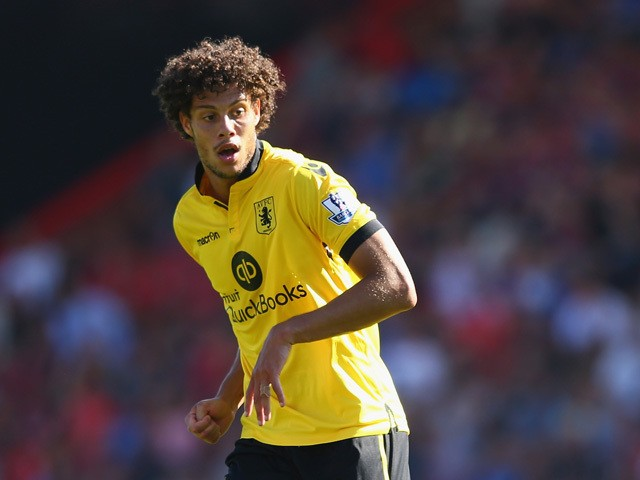 Rudy Gestede of Aston Villa during the Barclays Premier League match between Bournemouth and Aston Villa at the Vitality Stadium on August 8, 2015