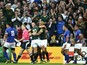 South Africa's wing JP Pietersen (C) celebrates with South Africa's fly half Handre Pollard after scoring his second try during the Pool B match of the 2015 Rugby World Cup between South Africa and Samoa at Villa Park in Birmingham, central England, on Se