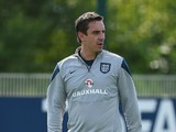England assistant coach Gary Neville during a training session at Tottenham Hotspur Training Centre on September 7, 2015 in Enfield, England.