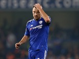 Chelsea's English defender John Terry reacts at the final whistle in the English Premier League football match between Chelsea and Southampton at Stamford Bridge in London on October 3, 2015. Southampton won the game 3-1.