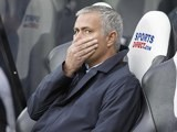 A horrified Jose Mourinho watches his Chelsea side take on Newcastle on September 26, 2015