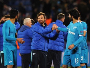 Zenit's Portuguese coach Andre Villas-Boas reacts after the UEFA Champions League group H football match between FC Zenit and KAA Gent at the Petrovsky stadium in St. Petersburg on September 29, 2015.