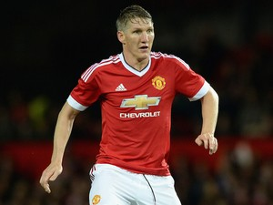 Bastian Schweinsteiger of Manchester United during the Capital One Cup Third Round match between Manchester United and Ipswich Town at Old Trafford on September 23, 2015 in Manchester, England.