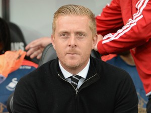 Garry Monk manager of Swansea City looks on ahead of the Barclays Premier League match between Swansea City and Tottenham Hotspur at Emirates Stadium on October 4, 2015 in Swansea, Wales.
