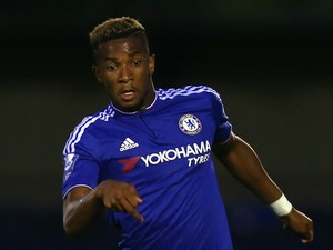 Kasey Palmer of Chelsea in action during the Premier League International Cup match between Chelsea U21 and Liverpool U21 on September 11, 2015 in Aldershot, England.
