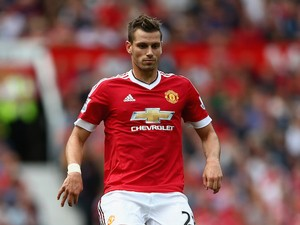 Morgan Schneiderlin of Manchester United in action during the Barclays Premier League match between Manchester United and Newcastle United at Old Trafford on August 22, 2015 in Manchester, United Kingdom.