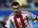 Adam Johnson of Sunderland in action during the Barclays Premier League match between Leicester City and Sunderland at The King Power Stadium on August 8, 2015 in Leicester, England.