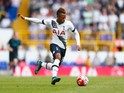 Clinton N'Jie of Tottenham Hotspur in action during the Barclays Premier League match between Tottenham Hotspur and Manchester City at White Hart Lane on September 26, 2015 in London, United Kingdom.