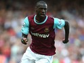 Pedro Obiang of West Ham in action during the Barclays Premier League match between West Ham United and Bournemouth at the Boleyn Ground on August 22, 2015 in London, United Kingdom.