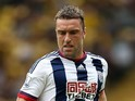 Rickie Lambert of West Brom in action during the Barclays Premier League match between Watford and West Bromwich Albion on August 15, 2015 in Watford, United Kingdom.