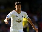 Jack Cork of Swansea in action during the Barclays Premier League match between Watford and Swansea City at Vicarage Road on September 12, 2015