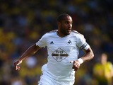 Ashley Williams of Swansea City in action during the Barclays Premier League match between Watford and Swansea City at Vicarage Road on September 12, 2015