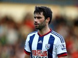Claudio Yacob of West Brom in action during the Pre-Season Friendly between Walsall and West Bromwich Albion at Banks' Stadium on July 28, 2015