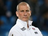 Stuart Lancaster, Head Coach of England looks on prior to the 2015 Rugby World Cup Pool A match between England and Uruguay at Manchester City Stadium on October 10, 2015 in Manchester, United Kingdom.