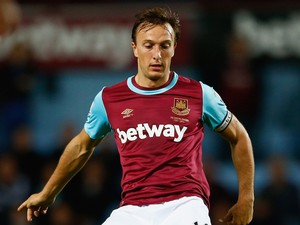 Mark Noble of West Ham United in action during the Barclays Premier League match between West Ham United and Newcastle United at Boleyn Ground on September 14, 2015 in London, United Kingdom.