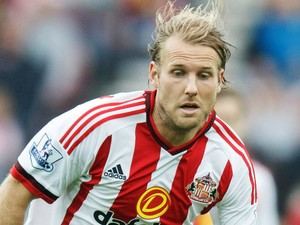Ola Toivonen of Sunderland in action during the Barclays Premier League match between Sunderland and West Ham United at the Stadium of Light on October 3, 2015 in Sunderland United Kingdom