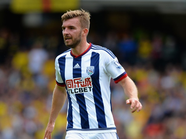 James Morrison of West Bromwich Albion during the Barclays Premier League match between Watford and West Bromwich Albion at Vicarage Road on August 15, 2015