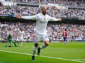 Jese Rodriguez of Real Madrid celebrates after scoring Real's 3rd goal during the La Liga match between Real Madrid CF and Levante UD at estadio Santiago Bernabeu on October 17, 2015