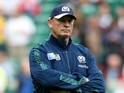 Vern Cotter, Head Coach of Scotland looks on prior to the 2015 Rugby World Cup Quarter Final match between Australia and Scotland at Twickenham Stadium on October 18, 2015 in London, United Kingdom.