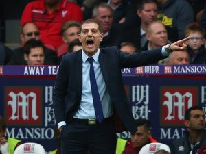 Slaven Bilic manager of West Ham United gestures during the Barclays Premier League match between Crystal Palace and West Ham United at Selhurst Park on October 17, 2015