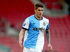 Connor Mahoney of Blackburn controls the ball during the Under 21 Premier League Cup Final Second Leg match between Southampton and Blackburn Rovers at St Mary's Stadium on April 20, 2015