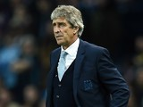 Manchester City's Chilean manager Manuel Pellegrini watches during a UEFA Champions league Group D football match between Manchester City and Sevilla at the Etihad Stadium in Manchester, north west England on October 21, 2015.