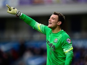Blackburn goalkeeper Simon Eastwood in action during the FA Cup Fifth round match between Blackburn Rovers and Stoke City at Ewood park on February 14, 2015