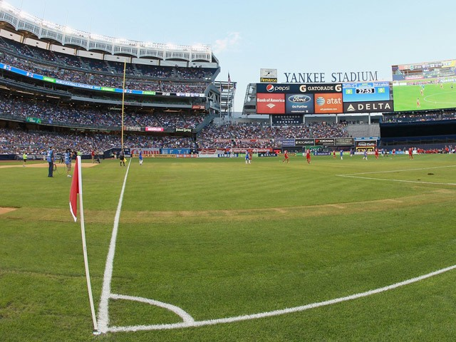 A general view of football at Yankee Stadium home of New York City FC on July 22, 2012