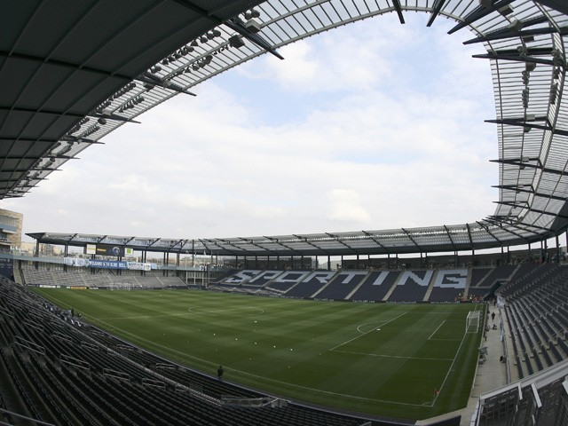 A general view of the interior of Livestrong Sporting Park before a game between New England Revolution and Sporting Kansas City on March 17, 2012