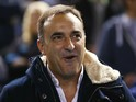 Carlos Carvalhal the manager of Sheffield Wednesday looks on during the Capital One Cup fourth round match between Sheffield Wednesday and Arsenal at Hillsborough Stadium on October 27, 2015 in Sheffield, England.