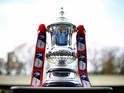 The FA Cup is seen prior to the FA Cup First Round match between FC Halifax and Bradford City on November 9, 2014 in Halifax, England.