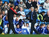 Jurgen Klopp, manager of Liverpool and Jose Mourinho Manager of Chelsea shake hands after the Barclays Premier League match between Chelsea and Liverpool at Stamford Bridge on October 31, 2015