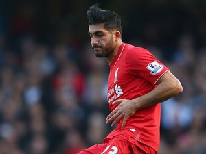Emre Can of Liverpool in action during the Barclays Premier League match between Chelsea and Liverpool at Stamford Bridge on October 31, 2015 in London, England.