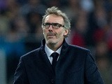 Laurent Blanc head coach of PSG looks on during the UEFA Champions League Group A match between Real Madrid CF and Paris Saint-Germain at Estadio Santiago Bernabeu on November 3, 2015