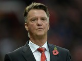 Manchester United's Dutch manager Louis van Gaal leaves the pitch at half-time during the English Premier League football match between Manchester United and West Bromwich Albion at Old Trafford stadium in Manchester, north west England, on November 7, 20