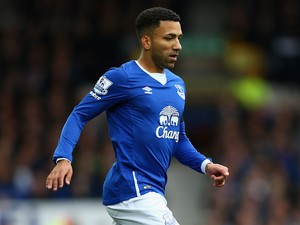 Aaron Lennon of Everton in action during the Barclays Premier League match between Everton and Manchester United at Goodison Park on October 17, 2015 in Liverpool, England.