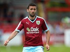 Daniel Lafferty of Burnley during a Pre Season Friendly match between Accrington Stanley and Burnley at The Store First Stadium on July 18, 2015