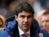 Aitor Karanka, manager of Middlesborough during the Sky Bet Championship match between Wolverhampton Wanderers and Middlesborough at Molineux Stadium on October 24, 2015
