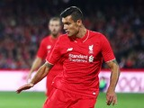 Dejan Lovren of Liverpool during the international friendly match between Adelaide United and Liverpool FC at Adelaide Oval on July 20, 2015